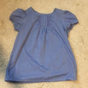 Gap Blue Baby Doll Shirt with Pockets